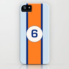 RACING COLOURS- GULF RACING iPhone (5, 5s) Slim Case