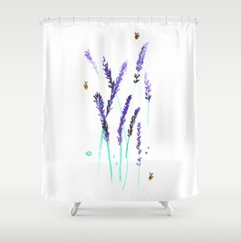 Lavender & Bees Shower Curtain