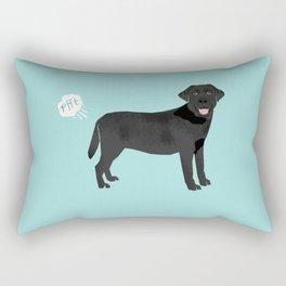Black Lab funny fart dog breed gifts labrador retrievers Rectangular Pillow