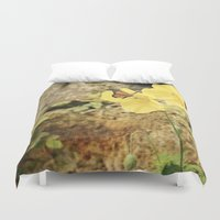 poppies Duvet Covers featuring Poppies by Fine Art by Rina