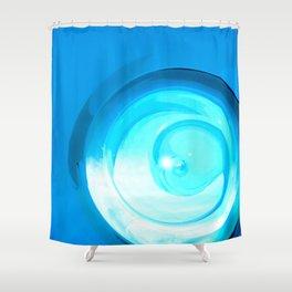 winter driver winner Shower Curtain
