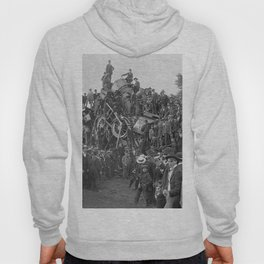 1896 Train Wreck, Buckeye Park in Lancaster, Ohio black and white photography / photograph Hoody