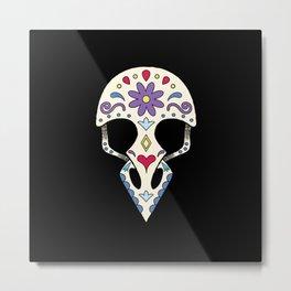 Bird sugar skull Metal Print