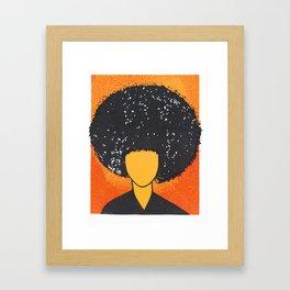 Afro Style Framed Art Print