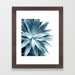 Bursting into life - teal Framed Art Print