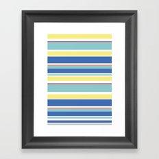 The Summer Stripes Framed Art Print