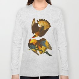 Caracara Eagle Illustration Long Sleeve T-shirt