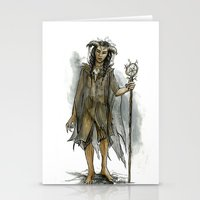 tina fey Stationery Cards featuring death fey by laya rose