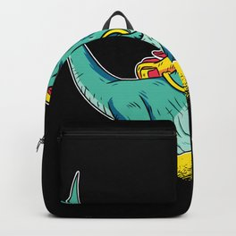 First Grader Dinosaur With Satchel Motif Backpack