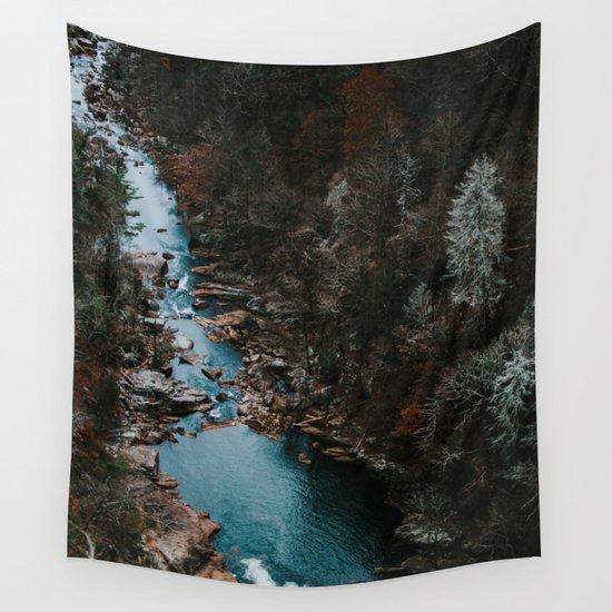 Blue Creek #landscape #society6 Wall Tapestry