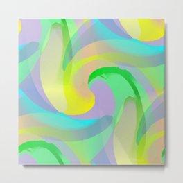 Soft Rainbow Abstract - Painterly Metal Print