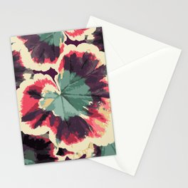 Colorful Geranium Illustrated Print Stationery Cards