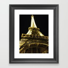 Tour Eiffel By Night Framed Art Print