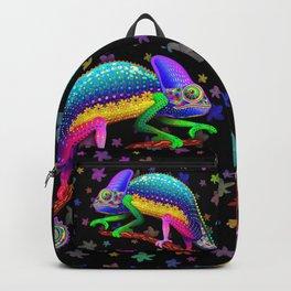 Chameleon Fantasy Rainbow Colors Backpack