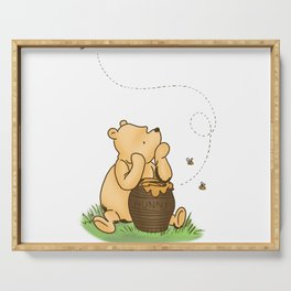 Classic Pooh with Honey - No background Serving Tray