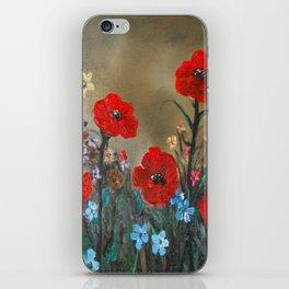 Impasto Red Poppy Love Garden iPhone Skin