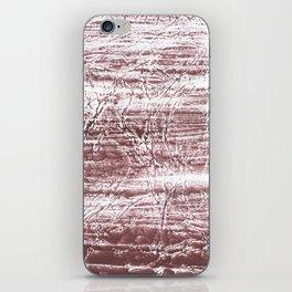 Brown marble watercolor design iPhone Skin