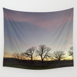 Autumn Sunset Silhouette - Pheasant Branch Conservancy Wall Tapestry