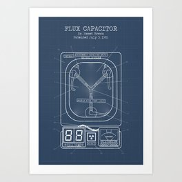 Fluc capacitor blueprint Art Print