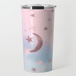 Pastel Starry Sky Moon Dream #2 #decor #art #society6 Travel Mug