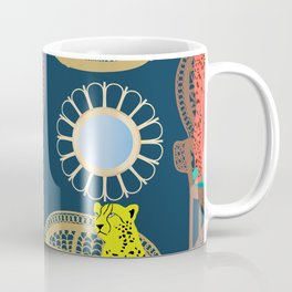 Rattan Cheetah Chairs + Mirrors Coffee Mug