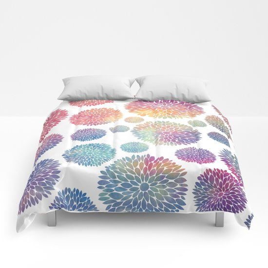 Watercolor Flowers Comforters