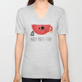 Ahoy Mate-tea! Unisex V-Neck