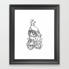 Shark's submarine Framed Art Print
