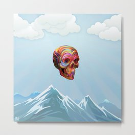 Skull Passes By Metal Print