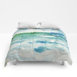 Miami Beach Watercolor #2 Comforters