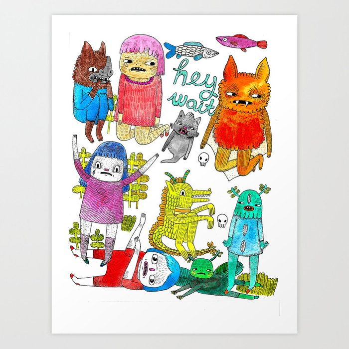 critter collection Art Print