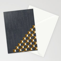 Denim with Gold Studs Stationery Cards