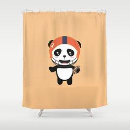 Football Panda with ball T-Shirt D9w5x Shower Curtain