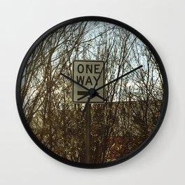 One way sign Wall Clock