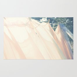 clothes hanging Rug
