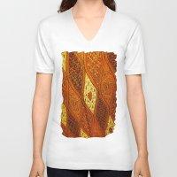 batik V-neck T-shirts featuring batik  by customgift
