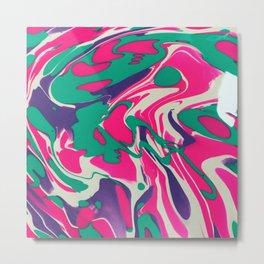 Cotton Candy Swirls Metal Print