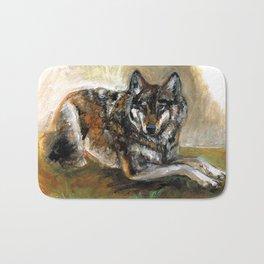 Carpathian wolf realistic (c) 2017 Bath Mat