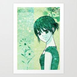 Maria green grunge Art Print