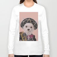 mexican Long Sleeve T-shirts featuring Mexican Chihuahua by Rachel Waterman