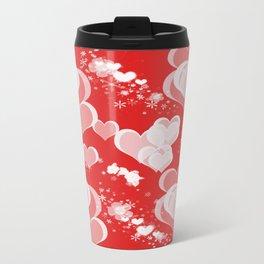 Floating Hearts And Flowers Travel Mug