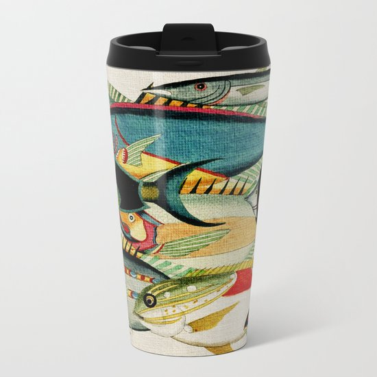 Fantastic Fish Tank Metal Travel Mug