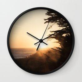 Misty sunset, Fort Bragg, Northern California Wall Clock