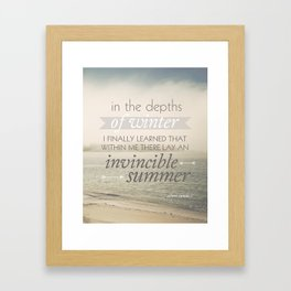 Invincible Summer Framed Art Print