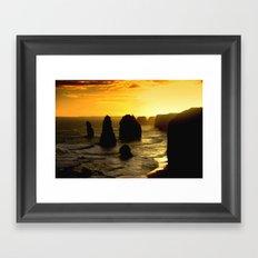 Sunset over the Twelve Apostles - Australia Framed Art Print