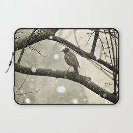 American Robin (Turdus migratorius) in Winter Laptop Sleeve