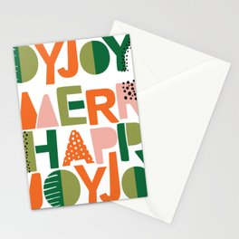 Merry Happy Joy Joy Stationery Cards