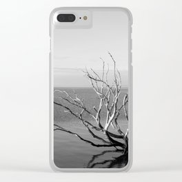 Driftwood Black and White Clear iPhone Case