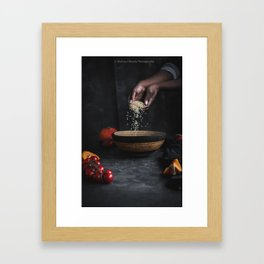 Rice and Hands Framed Art Print