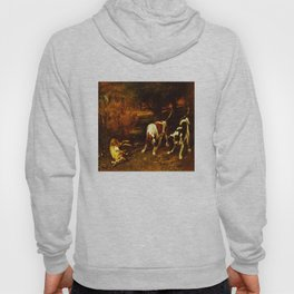 HUNTING DOGS WITH DEAD HARE, by Gustave Courbet, 1857 Hoody